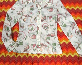 50's style ladies button up