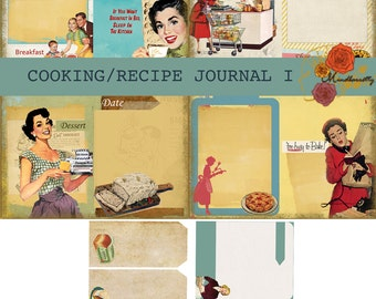 Cooking/Recipe Journal I (Digital paper)