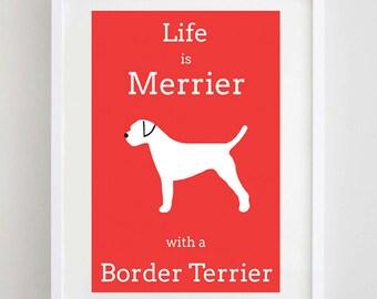 Border Terrier Picture - Border Terrier Print - Dog Picture - Dog Print - Dog Art