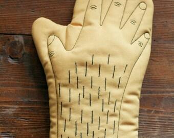 Mustard Handmade Oven Glove