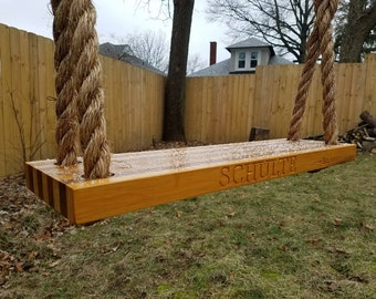 Classic Wood Tree Swing