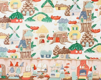 Gnome Avenue  - Cool Retro Christmas Fabric By Alexander Henry - Pink Tea - 9.95 per yard