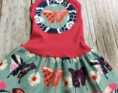 Girl's Toddler Tank Dress - Coral Butterfly - Infan...