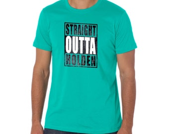 """Straight Outta """"Your Town""""  Medium - CHOOSE YOUR COLOR - Made in Massachusetts!"""