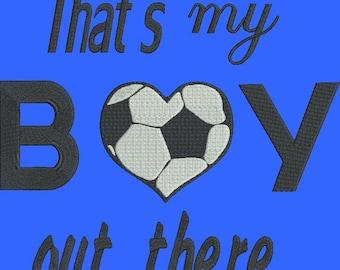 Soccer ball machine embroidery design