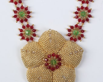 Beadwoven stunning necklace Star of India. Project by famous Jean Campbell. Beadwork.Beaded.