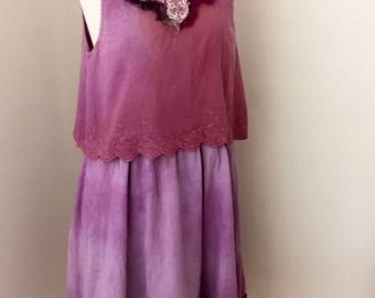 Embellished dress, Festival dress, purple dress, Floaty dress, Hippie dress, Embroidered dress, boho dress, Gypsy dress,