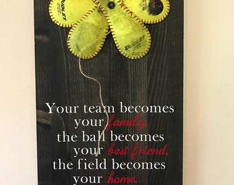Your team becomes your family softball flower