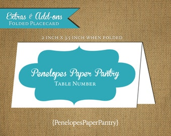 Custom Place Cards,Fold Over Place Cards,Made to Match,Coordinates With Matte Paper Designs,4inches by 3.5inches,Scored