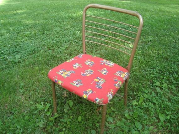 vintage cosco metal folding chair gate leg folding chair