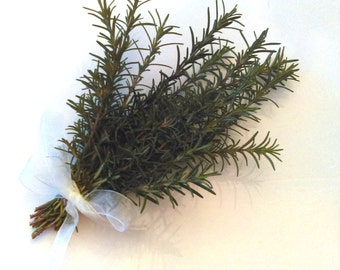 Fresh Organic Rosemary Small  Bouquet/ Wedding Herbs/ Sympathy Spray/ Fresh Cut Herbs/ Events/ Garden Party