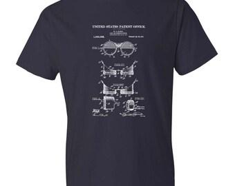 1913 Vintage Goggles Patent T-Shirt - Patent Shirt, Vintage Tools, Old Patent T-shirt, Goggles T-Shirt, Steampunk T-Shirt
