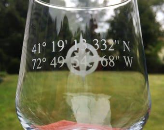 Custom coordinate wine glass