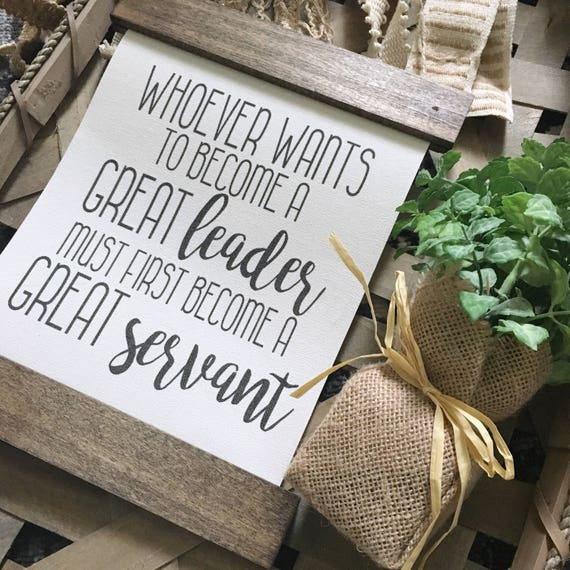 Great Servant | Canvas Banner |Wood Sign | Home Decor | Gallery Wall Sign | Hanging Sign | Fixer Upper Style | Farmhouse Decor