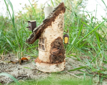 Wooden Fairy House, Gnome House, Miniature House, Waldorf, Reclaimed Wood,  Wood