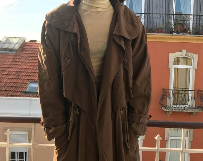 90's Parka Trenchcoat with Wool Lining