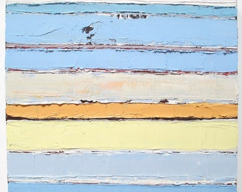Abstract oil painting, horizontal lines, beach painting, beach inspired, horizon line painting, pantone 2016
