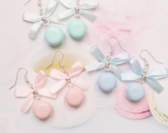earrings pastel macarons polymer clay
