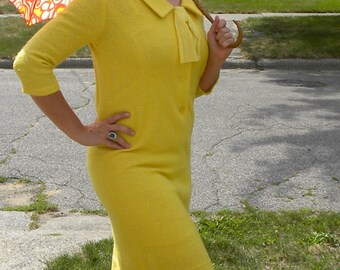 Canary Yellow Wiggle Dress