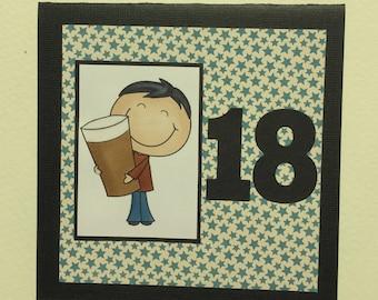 18th BIRTHDAY - Handmade Card