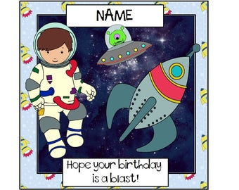 Astronaut birthday card, personalised, astronaut card, astronaut birthday, card for boy, birthday boy, greetings card, spaceman, space card