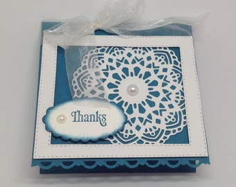 Indigo Doily Pay-It-Forward Thank You Card