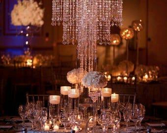 Wedding centerpieces etsy chandelierwedding centerpiece for tablechandelier centerpiecestabletop chandeliercenterpieces for wedding aloadofball Choice Image