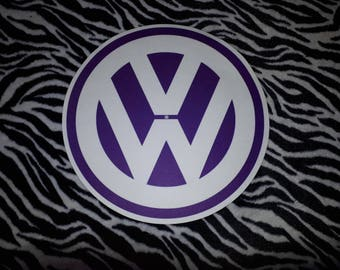 VW - LOGO Slipmat....(Purple) Turntable (Record Player) Slipmat.