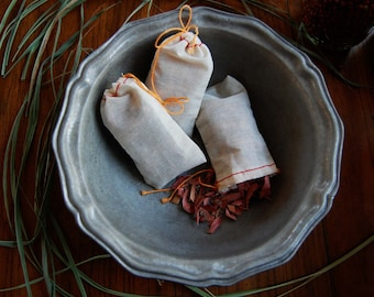 Cedar Lavender Sachets - Muslin Sachets for Drawers and Closets, moth repellant, natural air freshener, stocking stuffer