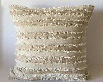 "Designer Accent Pillow - Beige Pillow - Decorative Pillow Cover  20"" x 20"""