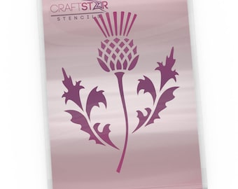 CraftStar Scottish Thistle Stencil - National Emblem of Scotland (A5 & A6 Sizes)