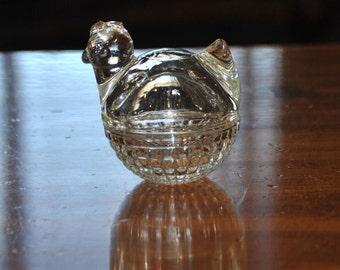 Trinket Box ANCHOR HOCKING Hen on Nest Vintage