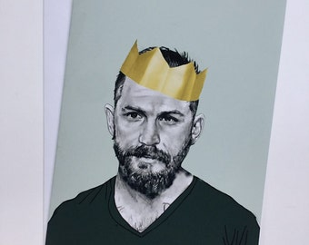 Tom Hardy Illustrative A5 Birthday Card
