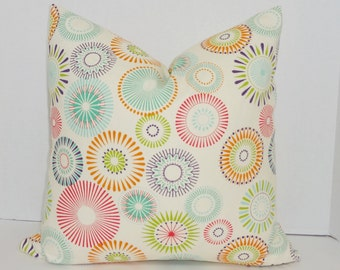 INVENTORY REDUCTION Multi Color Pinwheel Print Decorative Pillow Cover Throw Pillow Cover Size 18x18