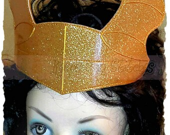 Loki Dragon City Inspired Teen/Adult Lg. Size CROWN Headband SPECiAL Gold HORNS Smooth Sparkle Glitter Vinyl-Comic Con ViDEO GaME INSPiRED