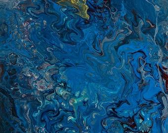 Azure - Abstract Acrylic Original Painting