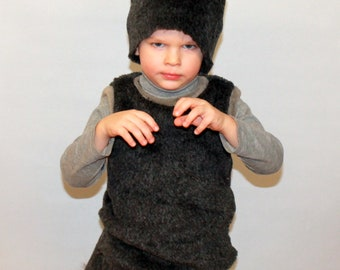 Wolf costume / Kids wolf Costume / Boy wolf costume/ girl wolf costume/wolf dress up / wolf handmade costume / Halloween costume