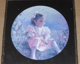 Lovely Mirror / Photo - Home Decor - Young Girl - Square Mirror - Child Room Decor - Mirror - Wall Hanging - Double Sided Mirror