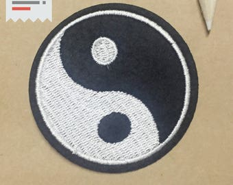 Tai Chi stick on patch,sticker,sew on patch,embroidered patch,Ying Yang patch, patches for jean, patches for jacket