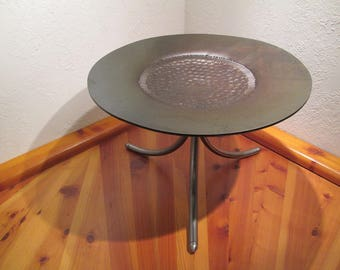 Steel gong with metal stand