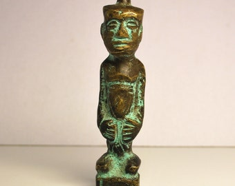 Antique Bronze Sculpture, Antiquarian Statue Brass Patina Men Image