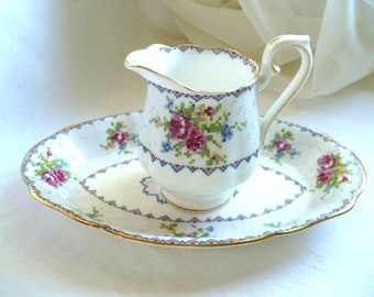 Creamer, Tray, Royal Albert, Vintage, Kitchen Decor, Housewarming Gift, Anniversary Gift, Gift For Mom, Petit Pointe