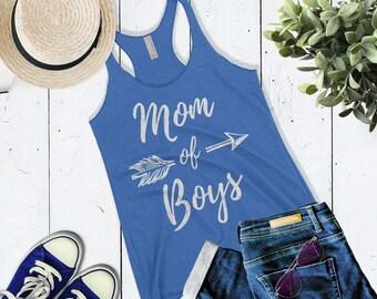 Cute Mom of Boys Tank Top Raising Boys shirt Mother of Boys Gift Boy Mama Mom Life Shirt Mom Tank Mothers Day Shirt Gift For Mom