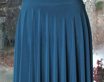 Teal Circle Skirt - Knee Length