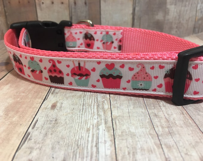 "The Cupcake | Designer 1"" Width Dog Collar 