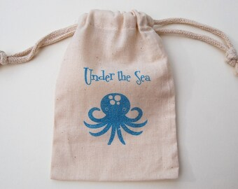 Under the Sea Party Favor Bag / Set of 20 /Birthday Party Favor Bag