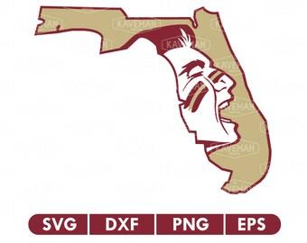 Florida State Seminoles FSU SVG DXF Silhouette Cameo Cricut Cut File
