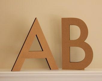 Free-standing cardboard letters