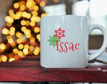 Snowflake Kid Size Mug, Christmas, Hot Chocolate