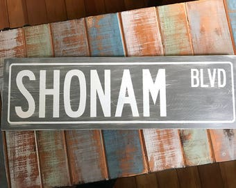 Personalized Street Sign, Distressed signs, Wood Signs, Street Sign, Custom Street Signs, New Home Housewarming Gift, Wooden Signs